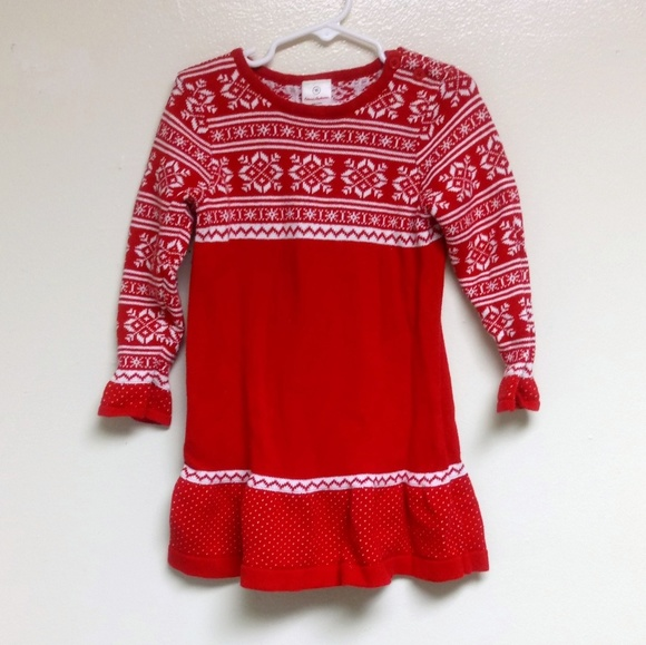 840d97e212 Hanna Andersson Other - Hanna Andersson Girls Red   White Sweater Dress 💕